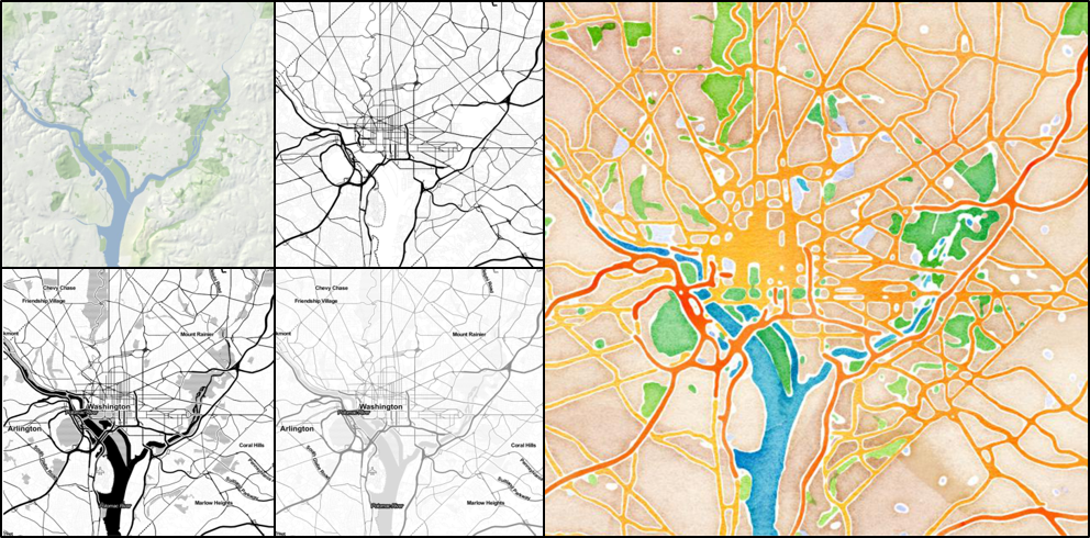 This Is A Small Selection Of The Raster Image Types You Can Pull In Using Ggmap It Accesses Google Limited Api Calls Open Street Maps Limited Api